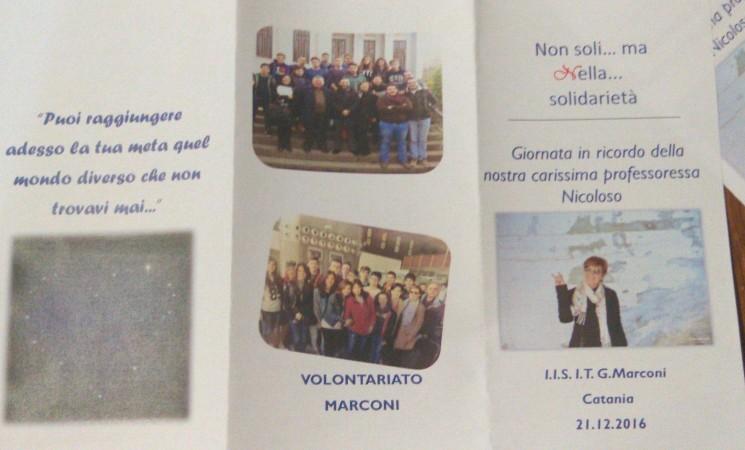 Al Marconi di Catania una giornata di solidarietà in onore della docente Nella Nicoloso