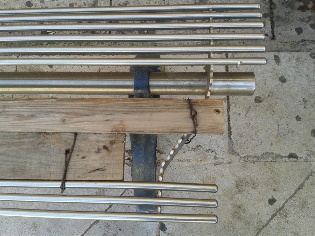 dettaglio panchina fil di ferro