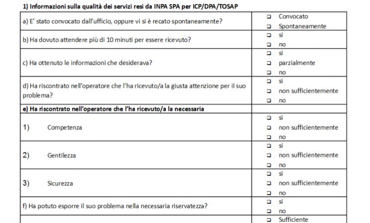 """Caltanissetta, Comune: questionario """"Customer satisfaction"""" per gli utenti"""