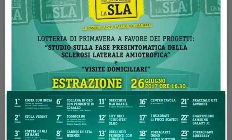 Una lotteria per sconfiggere la SLA (Sclerosi Laterale Amiotrofica)