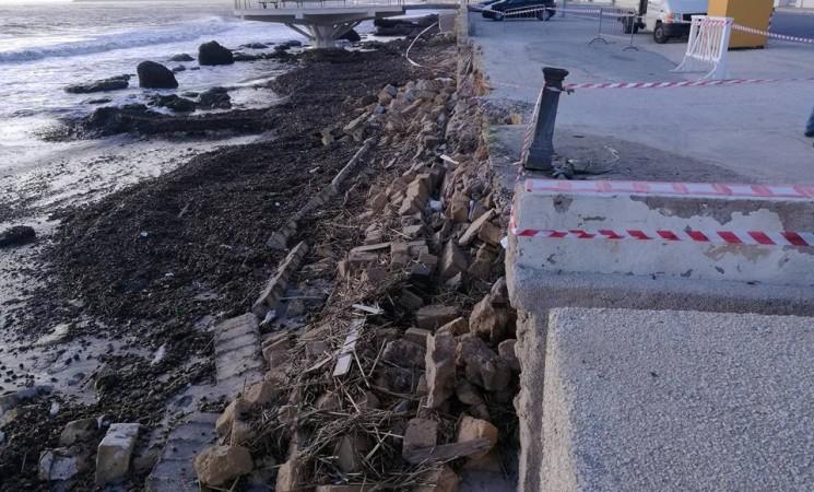 Mazara.Il litorale crolla senza prevenzione