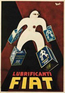 marcello-nizzoli-lubrificanti-fiat-1936-stampa-litografica-a-colori-su-carta-200-x-140-cm