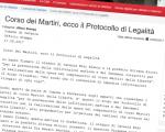 Corso dei Martiri, firmato il Protocollo di Legalità