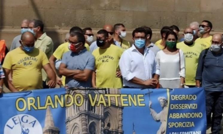 Cimitero dei Rotolo, protesta della Lega Nord a Palermo