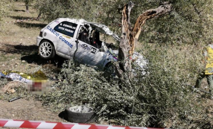 Incidenti, Rally tragico, morto il copilota di un equipaggio