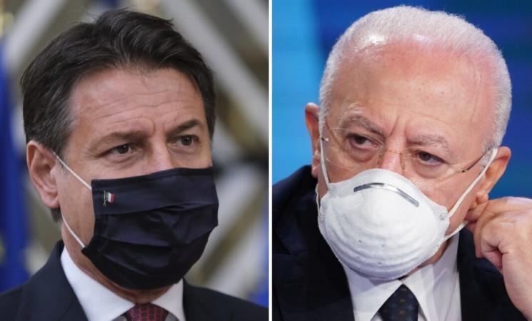 """Conte critica De Luca """"Chiudere le scuole non è la soluzione migliore"""""""