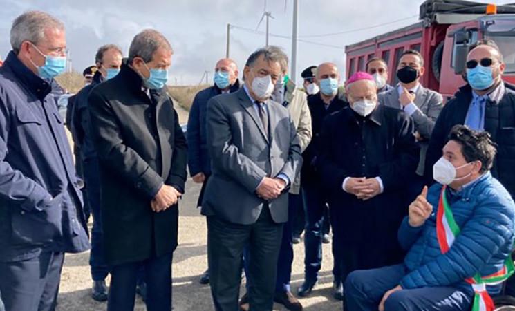 Musumeci inaugura l'avvio dei lavori della SP8 a Valledolmo