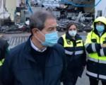 Catania, sopralluogo di Musumeci per i danni del maltempo
