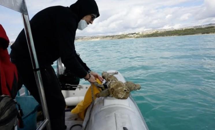Agrigento, il mare restituisce un cannone del  XVI secolo