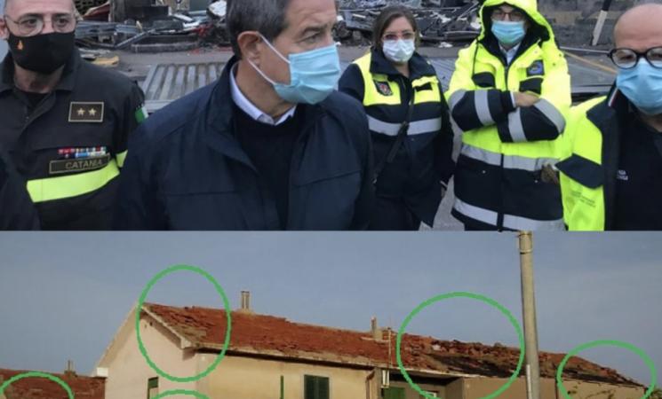Maltempo in Sicilia, tromba d'aria a Catania, Nello Musumeci annuncia lo Stato di calamità