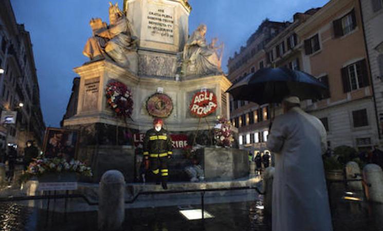 Il Papa a Piazza di Spagna e a Santa Maria Maggiore