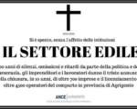 Ance Agrigento,in 10 anni chiuse 700 imprese settore è morto