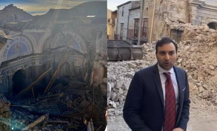 """Ventimiglia di Sicilia, crolla la chiesa, """"Burocrazia mostruosa"""""""
