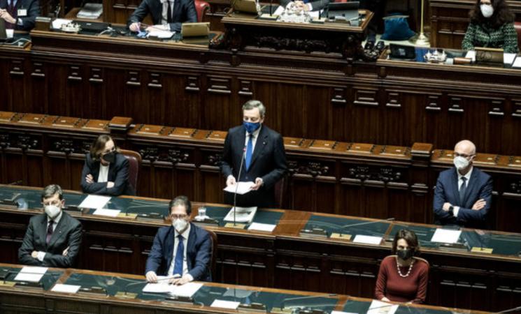 """Draghi """"Nei programmi del Pnrr c'è il destino del Paese"""""""