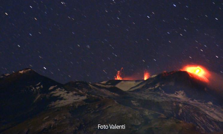Terremoto nella notte mentre l'Etna continua a dar spettacolo