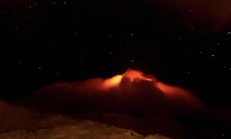 Etna, quattordicesimo parossismo, spettacolo notturno