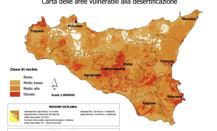 Desertificazione, anche popolazione in Sicilia è a rischio
