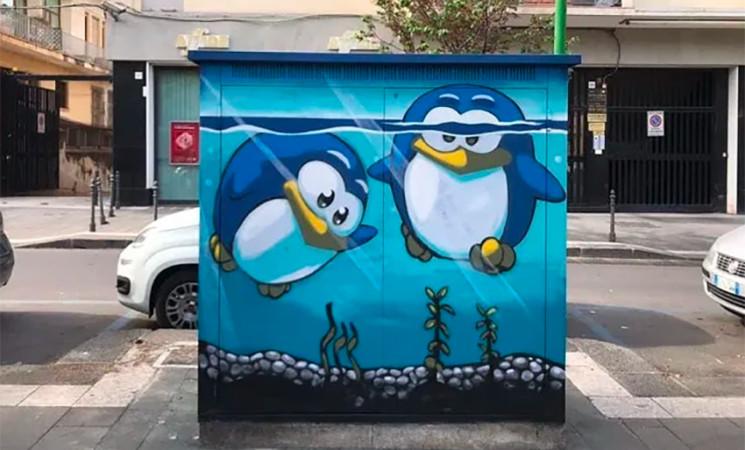 Catania, cabine gas diventano opere d'arte fatte da studenti