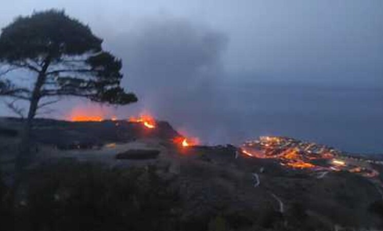 Incendi: fiamme sul monte Erice, minacciate alcune case