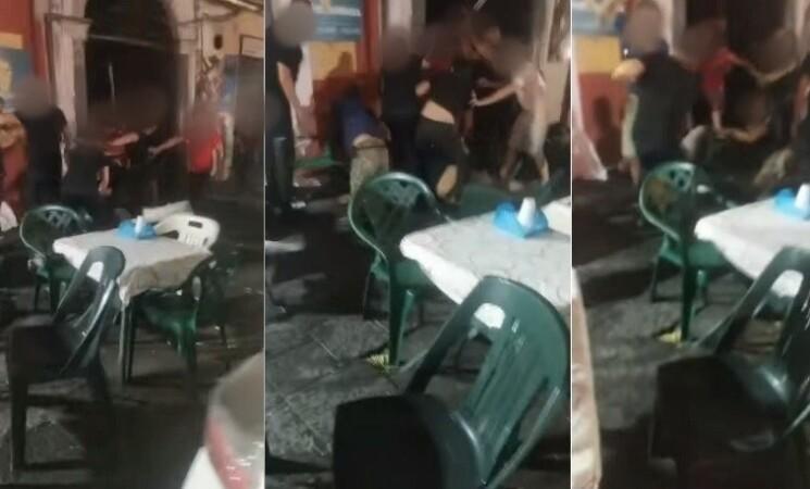 Catania, rissa in locale di via Plebiscito, il video è virale