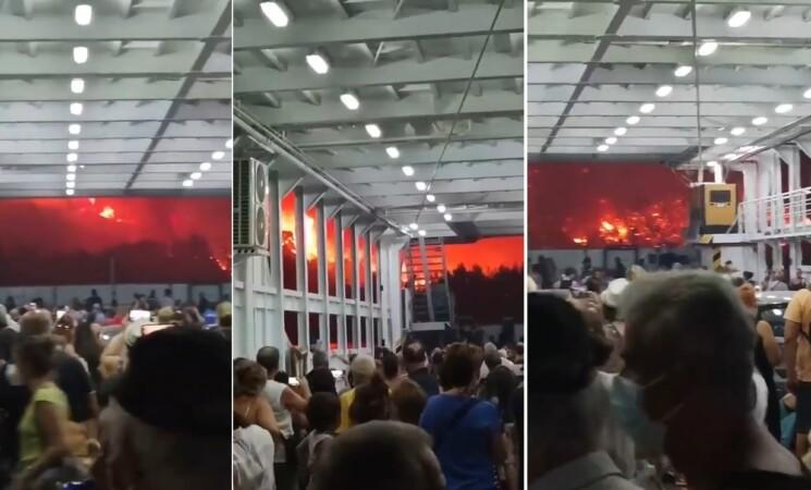Incendi Grecia, evacuata l'isola di Evia