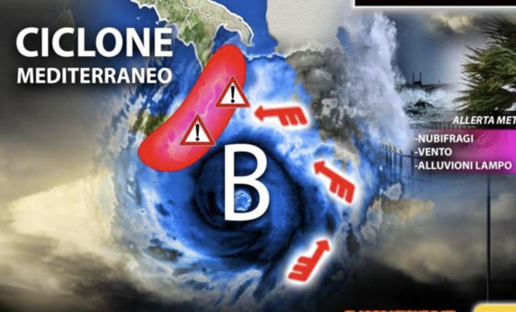 Meteo Sicilia, pioggia e rischio alluvioni, previsioni ponte 1 novembre