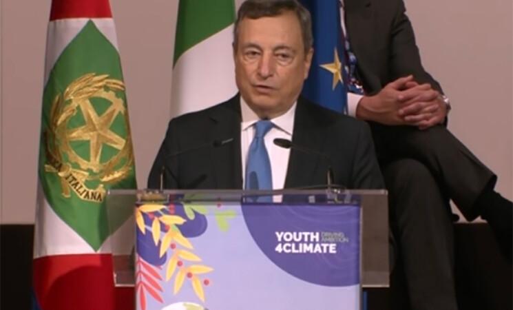 """Youth4Climate, Draghi, """"Agiremo subito, giovani hanno ragione"""""""