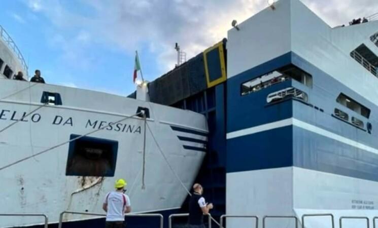 Paura al porto di Palermo, due navi si scontrano